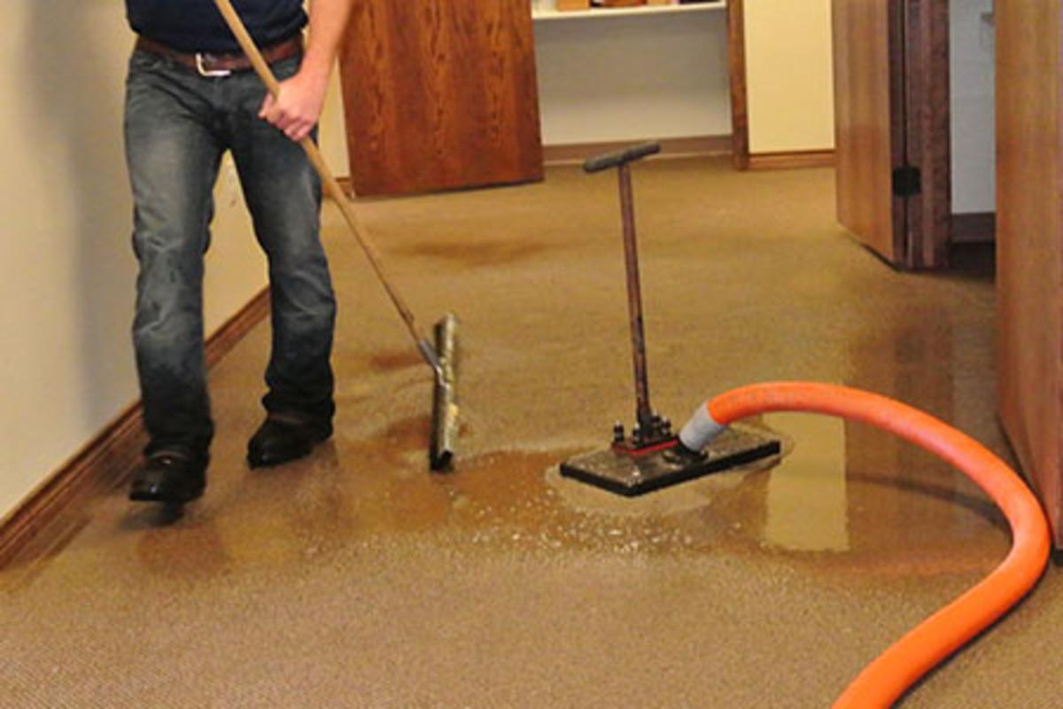 Commercial water damage restoration service in Higgins
