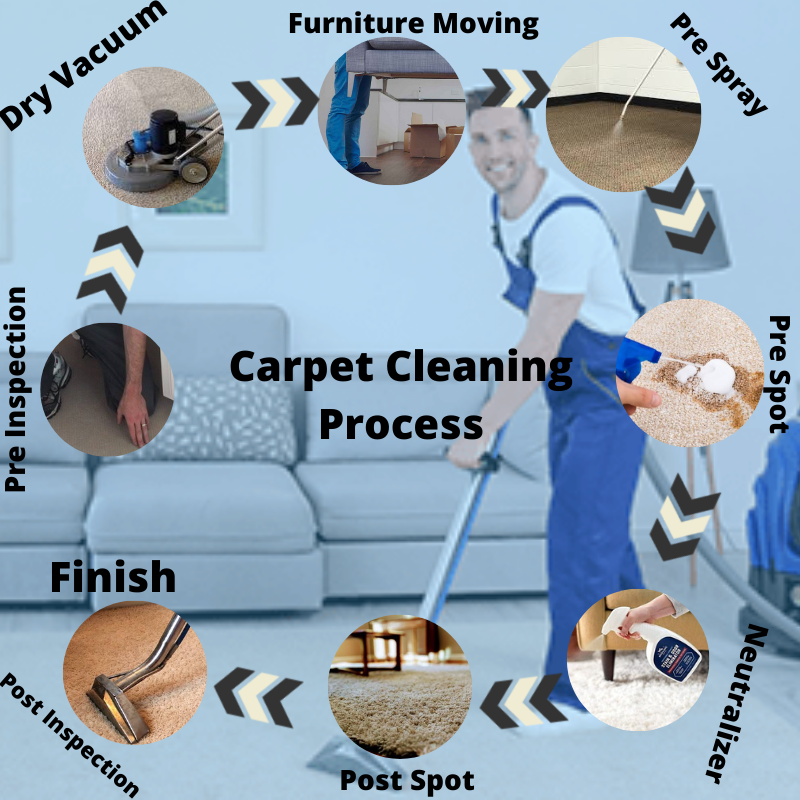 process of carpet cleaning Sydney